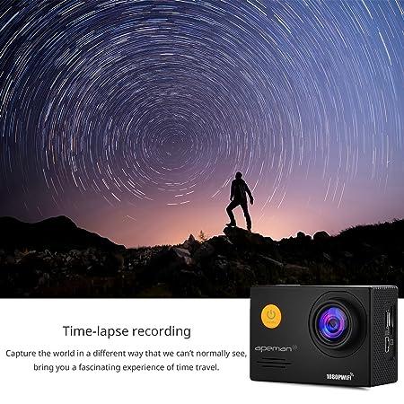Apeman cámara de acción WiFi 14 MP 1080P FHD Cámara Deportiva con ...