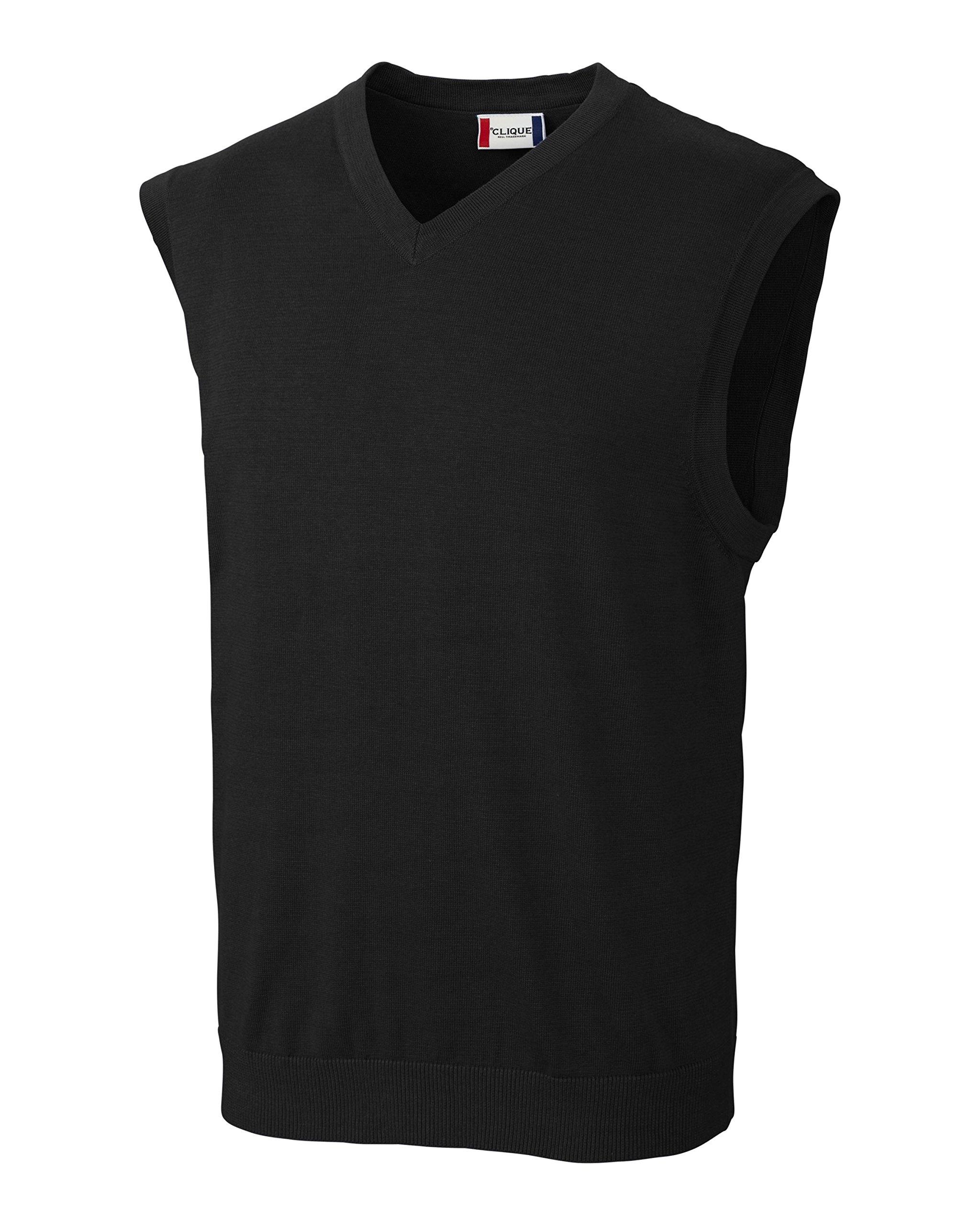 Clique Men's Imatra V-Neck Sweater Vest, Black, 4X-Large by Clique