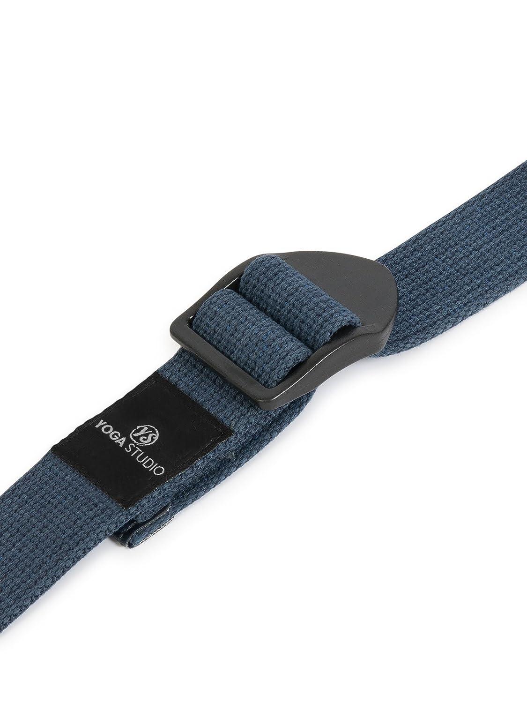 YogaStudio - Cinturón de yoga (algodón, 2,7 m), color azul ...