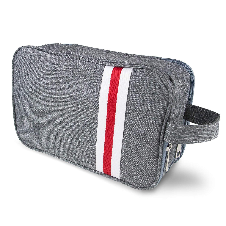 Travel Toiletry Bag Alpiriral Travel Organizer for Women or Men Small Nylon Bathroom and Shower Organizer for Short Trip in Gray