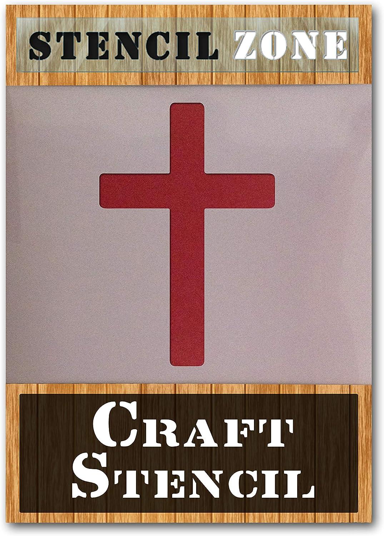 Croix Crucifix Christ J/ésus Houx AirRush Peinture murale Art Pochoir