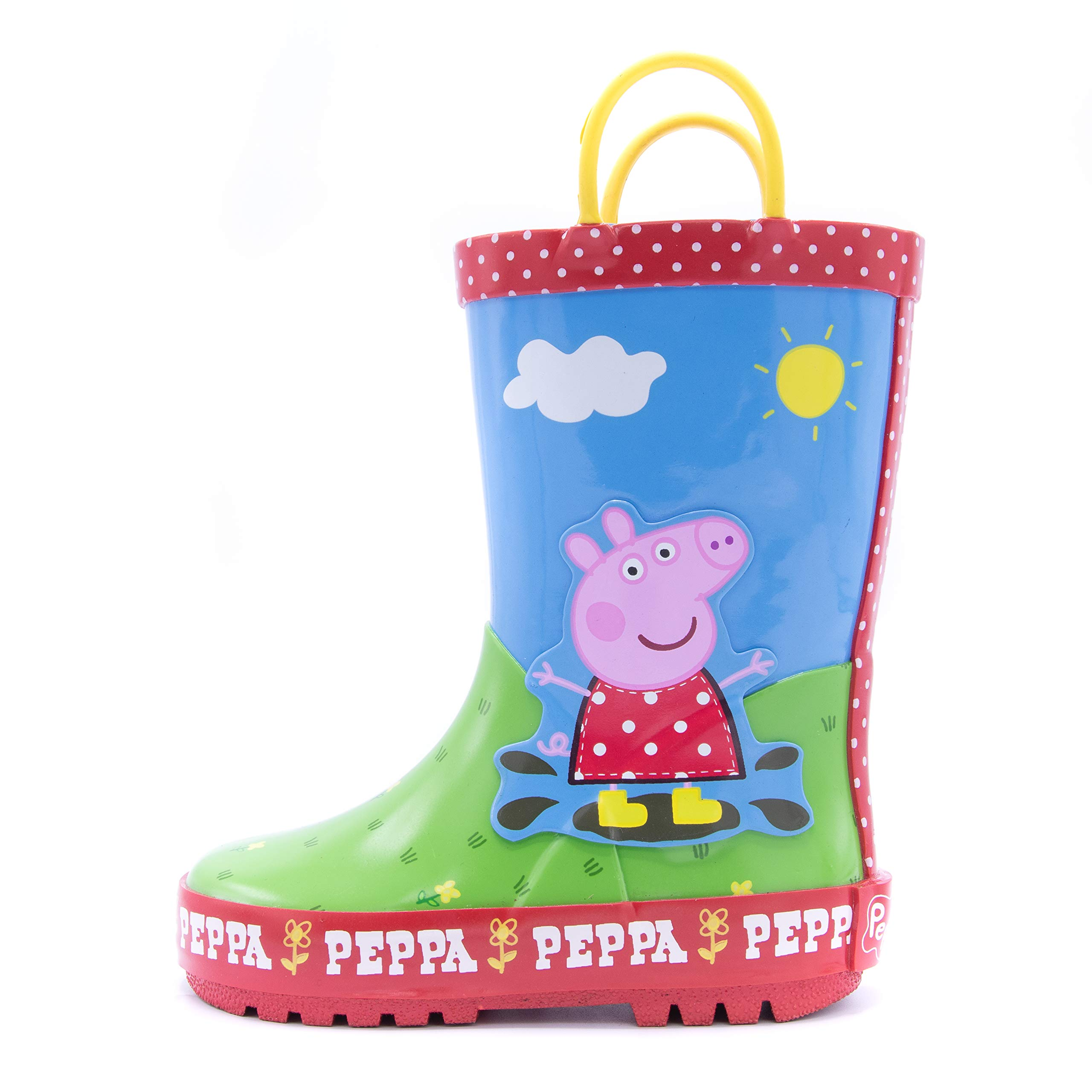 Peppa Pig Girls Puddle Jumper Rain Boot (Red, 8) by Peppa Pig