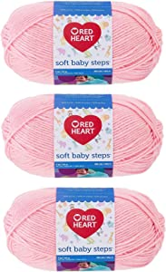 Red Heart E746-9700 Red Heart Soft Baby Steps Yarn - Baby Pink