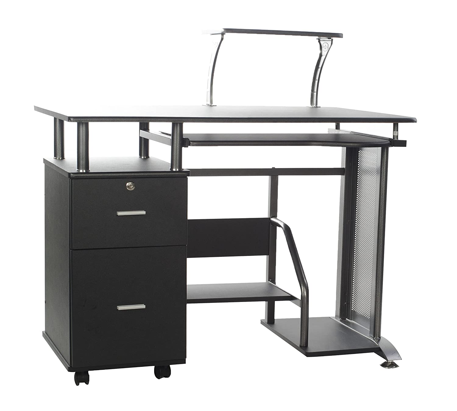Amazoncom Comfort Products Rothmin Computer Desk with Storage