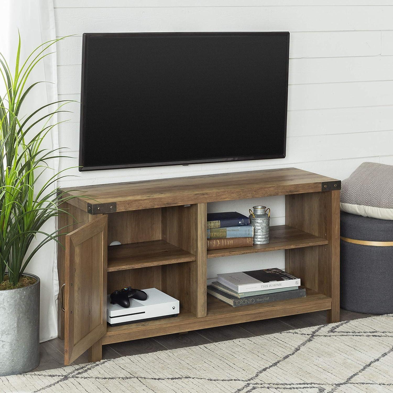 Mueble de televisi/ón de madera simple con dos puertas y un estante de almacenamiento,With doors TV cabinet
