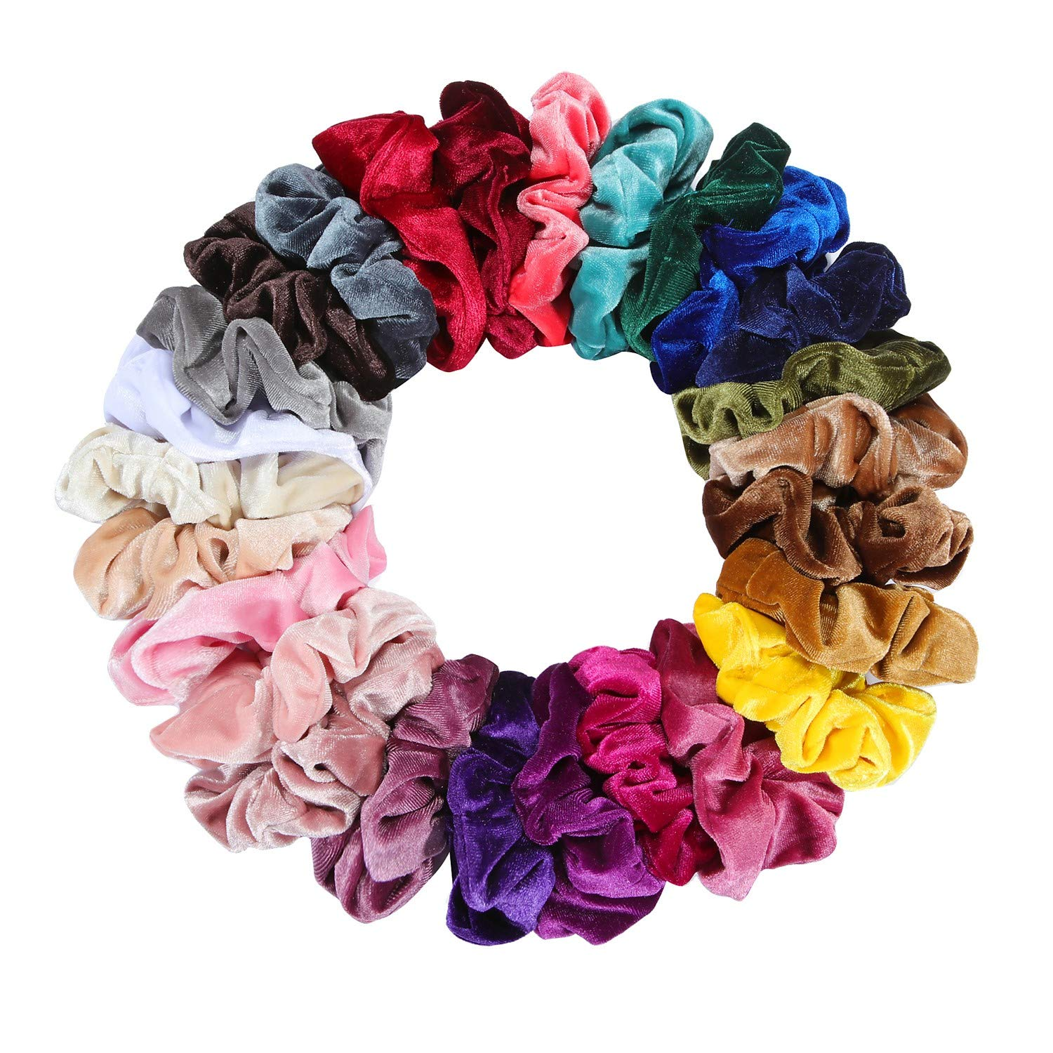 Nxconsu 10Pcs Velvet Hair Scrunchies Silky Cute Elastic Hair Bands Ties  Ropes Hair Stylish Ponytail Accessories Exquisite Colors Selection For  Girls