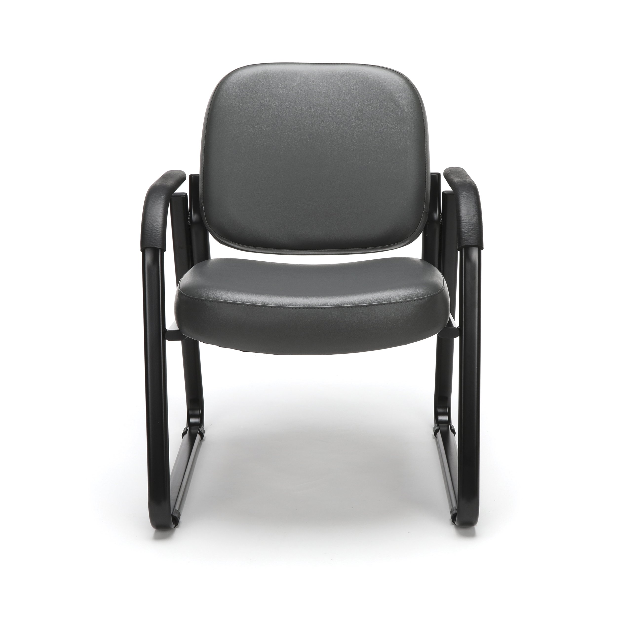 OFM Reception Chair with Arms - Anti-Microbial/Anti-Bacterial Vinyl Guest Chair, Charcoal (403-VAM) by OFM (Image #3)