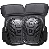 Professional Knee Pads for Work, Preciva Superior Comfortable Gel Cushion Knee Pads for Construction, Gardening, Flooring, with Strong Double Straps and Adjustable Easy-Fix Clips