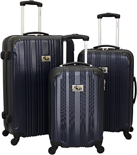 Chariot Modena 3-Piece Hardside Lightweight Upright Spinner Luggage Set, Blue, One Size