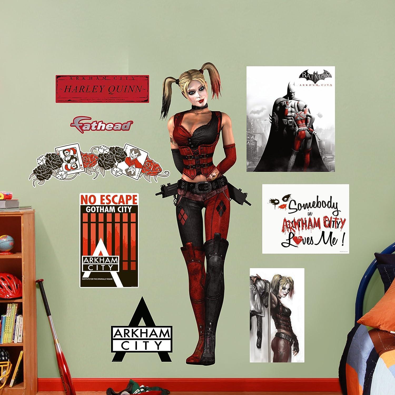 Amazon Fathead Harley Quinn Arkham City Graphic Wall Dcor