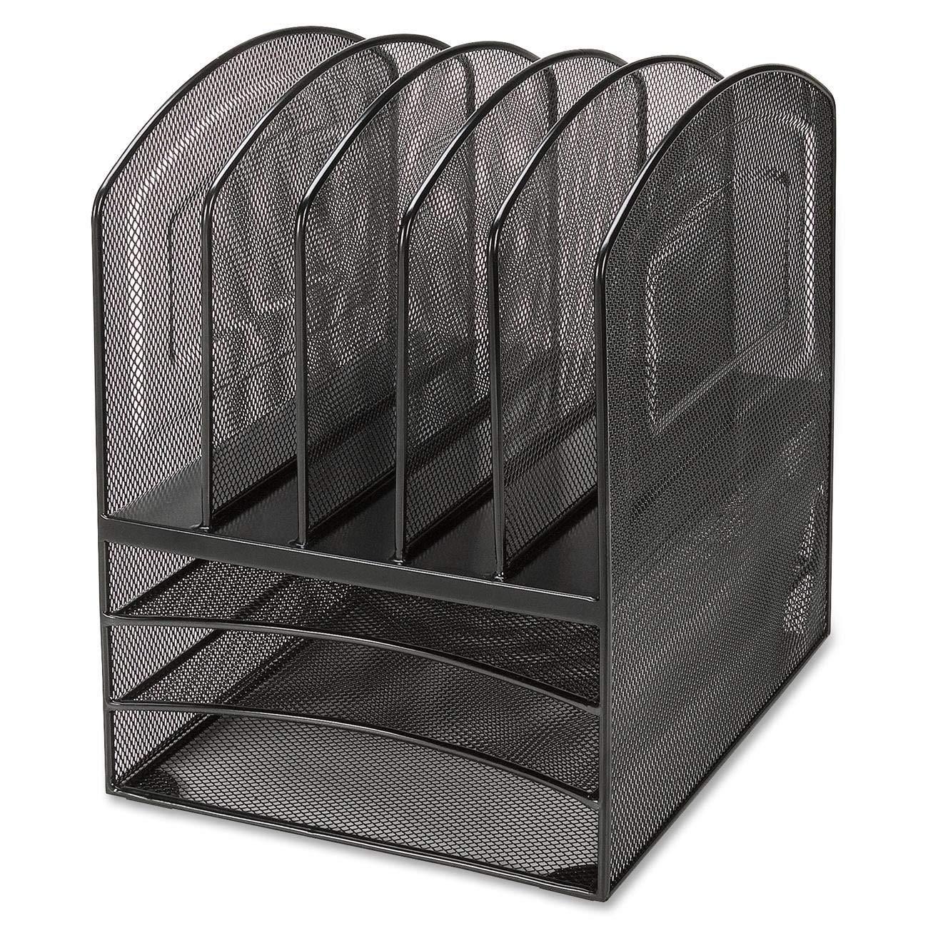 Lorell LLR95255 Mesh Horizontal Vertical Desktop Organizer