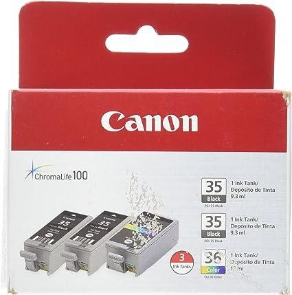 Amazon.com: Dos cartuchos Canon de tinta negra PGI-35 y ...