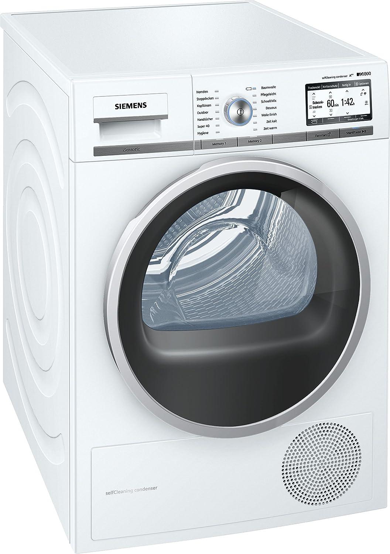 Siemens WT7YH700 Independiente Carga frontal 8kg A++ Blanco - Secadora (Independiente, Carga frontal, Bomba de calor, Blanco, Tocar, Derecho)