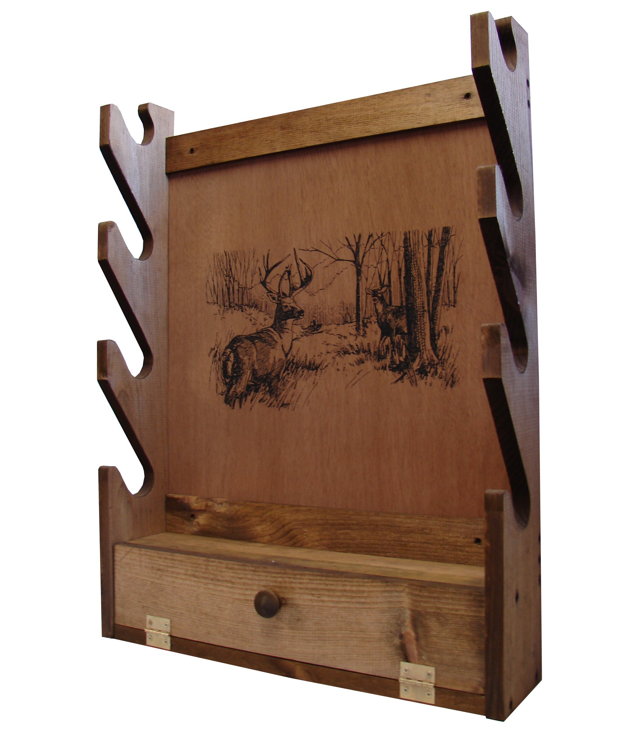 Evans Sports Gun Rack with Storage Compartment, Deer by Evans Sports