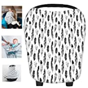Multi-Use Nursing Breastfeeding Cover Baby Car Set Cover Canopy Shopping Cart Cover Swaddle Blanket for Infants Newborns Toddlers Shower Gift (N)