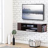 FITUEYES Wall Mounted Media Console Shelf Walnut 100*30cm DS210001WB
