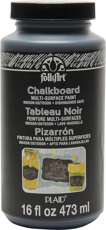 FolkArt Multi-Surface Chalkboard Paint (16 Ounce), 2725 Black