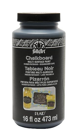 Folkart Multi Surface Chalkboard Paint 16 Ounce 2725 Black