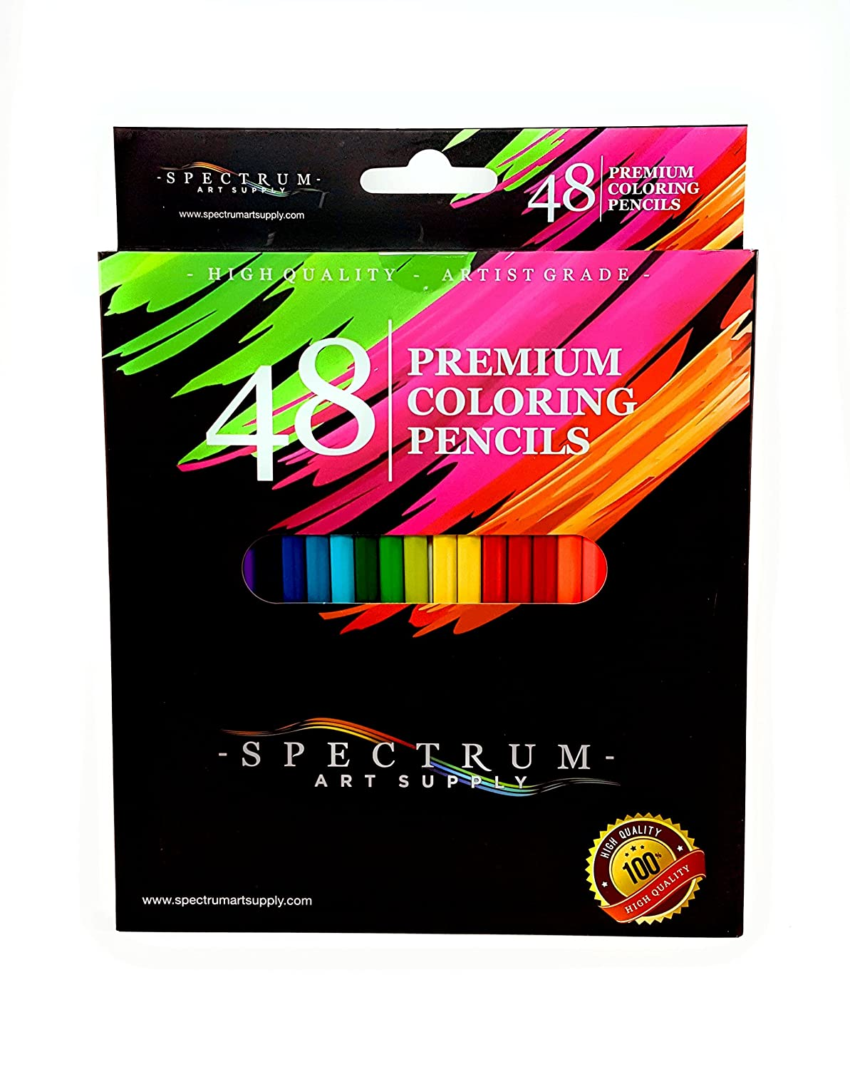 Coloring book for adults for pc - Spectrum Art Supply 48 Pc Premium Color Pencil Set For Drawing Coloring Adult Coloring Books