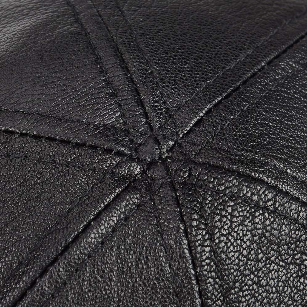 Genuine Real Leather Flat Cap 6 Panel Design Cabbie Beret Hat for Men Women Newsboy 154 1 PCs Keu/_20 Newsboy Caps