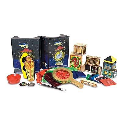 Melissa & Doug Deluxe Magic Set (Kids Magic Set, 10 Classic Tricks, Step-by-Step Instructions, 9.652 cm H x 35.814 cm W x 24.384 cm L): Toys & Games