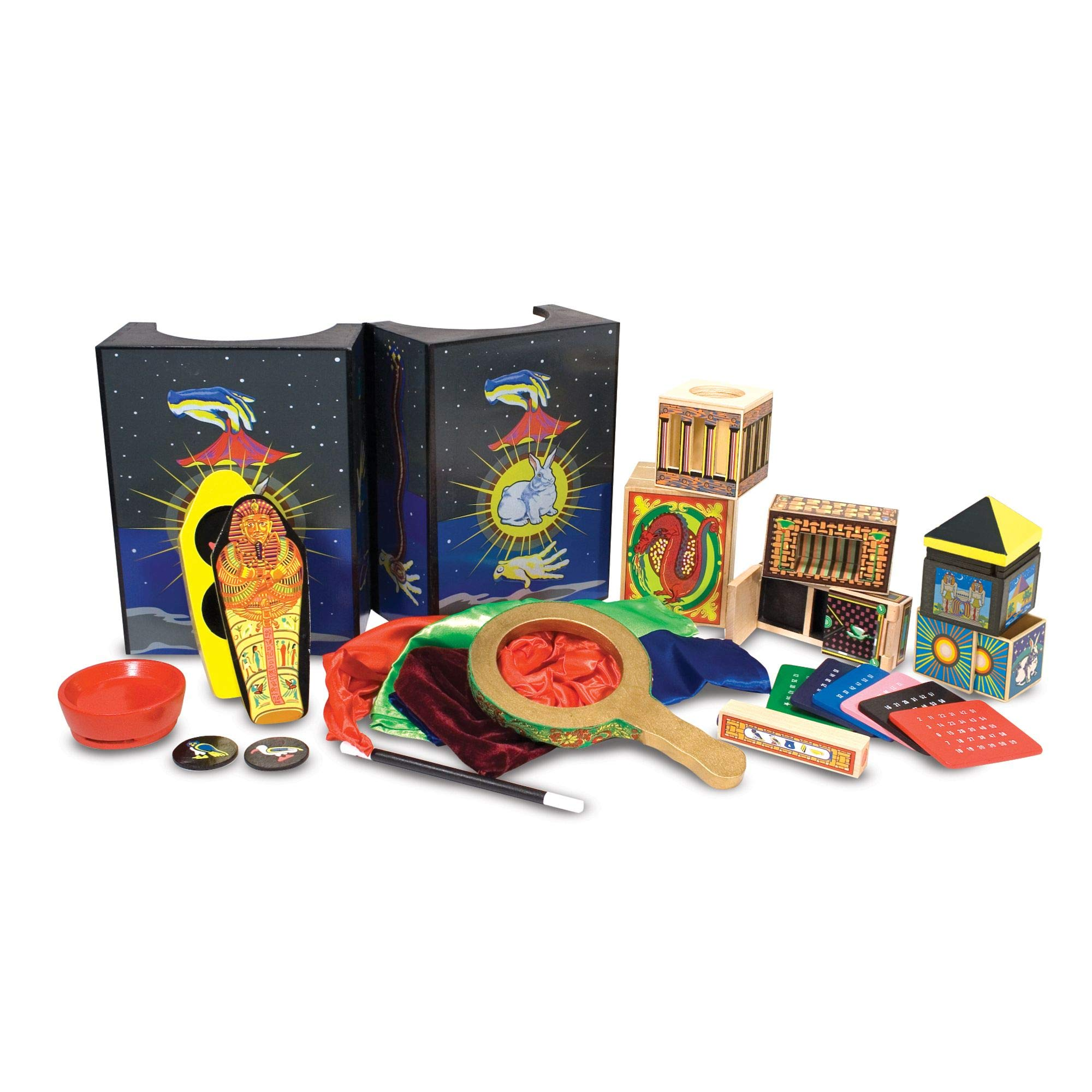 Melissa & Doug Deluxe Solid-Wood Magic Set with 10 Classic Tricks by Melissa & Doug