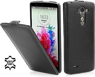 StilGut UltraSlim Case, custodia in vera pelle per LG G3, nero