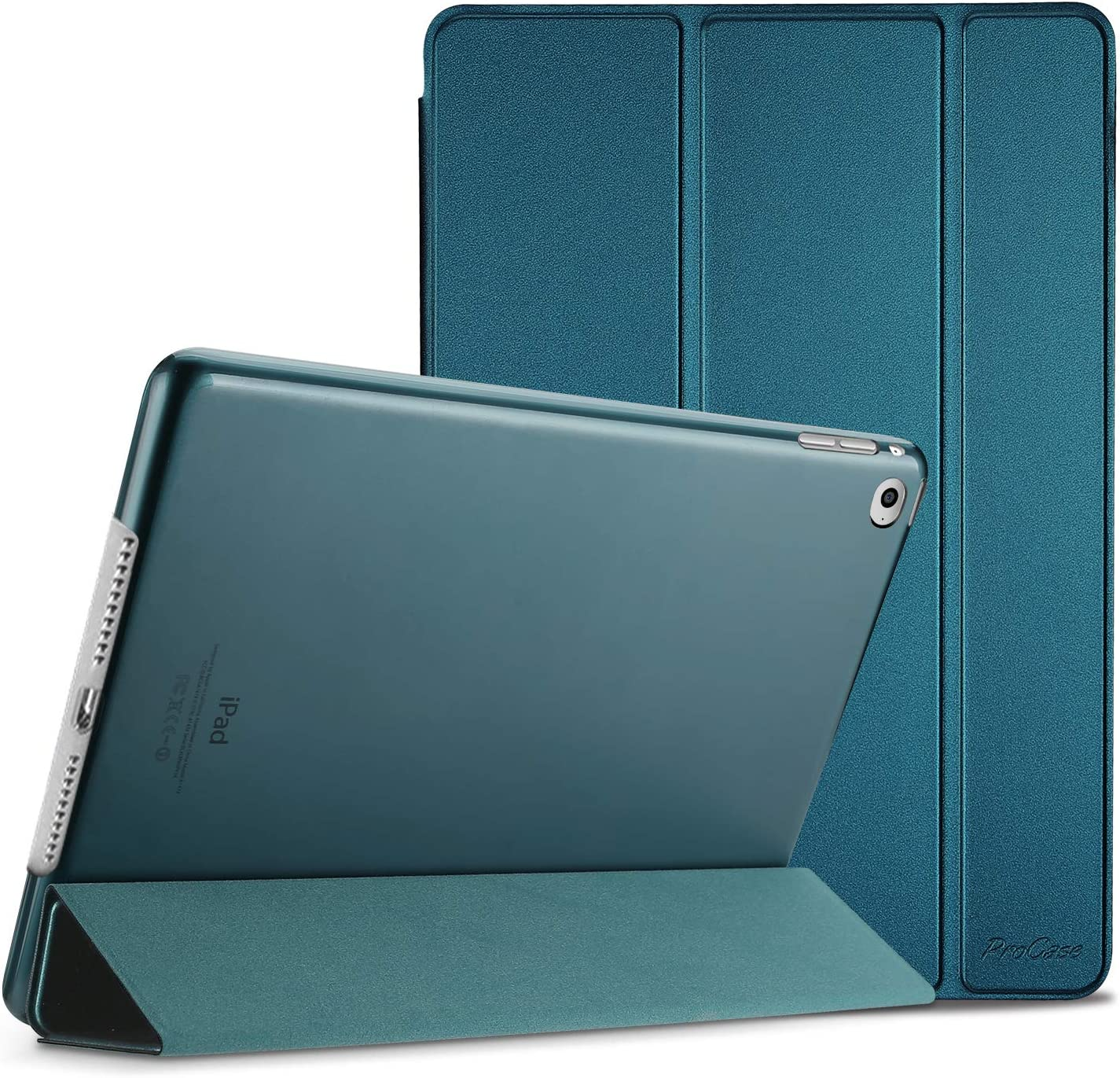 ProCase Smart Case for iPad Air 2 (2014 Release), Ultra Slim Lightweight Stand Protective Case Shell with Translucent Frosted Back Cover for Apple iPad Air 2 (A1566 A1567) -Teal