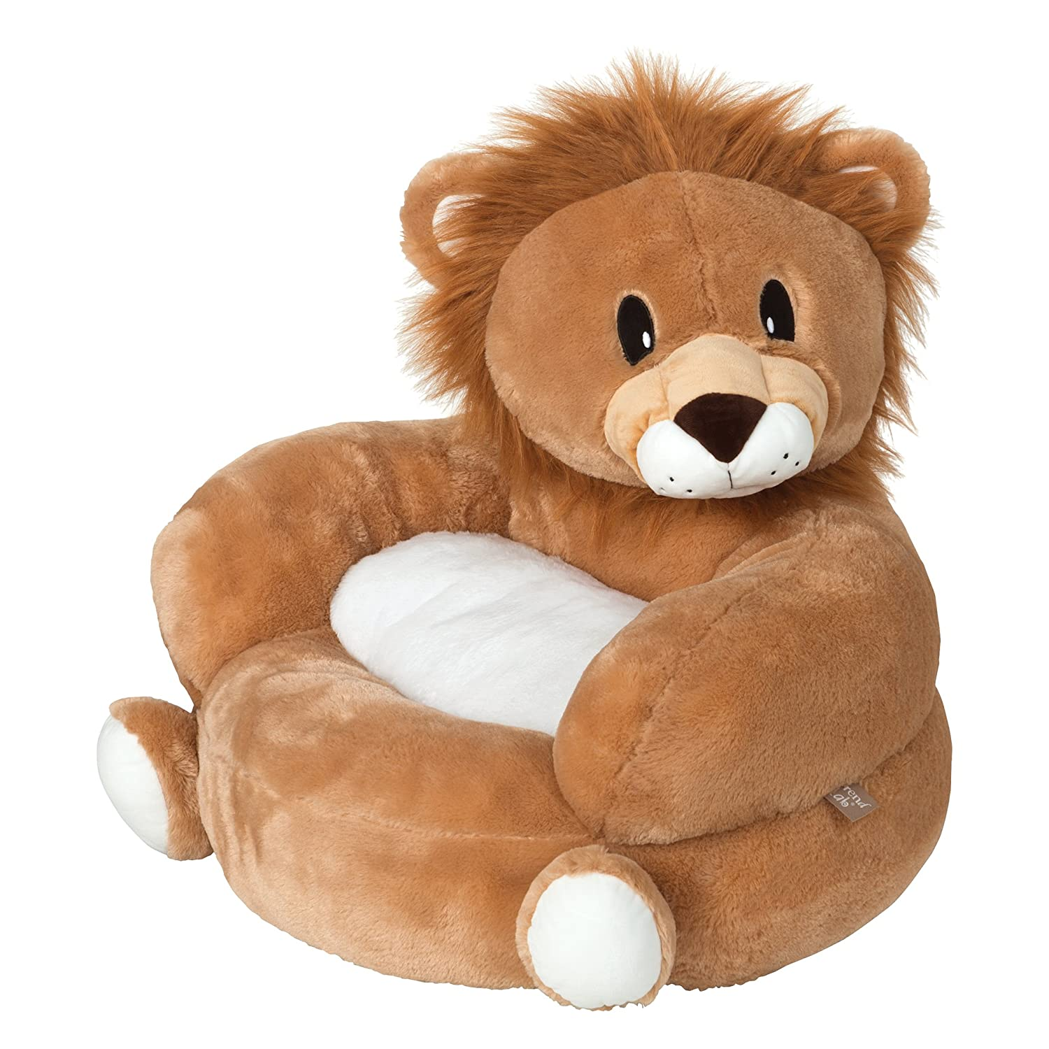 Trend Lab Children's Plush Character Chair, Lion, Yellow 102654