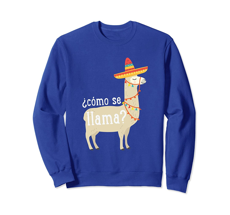 Como Se Llama Sweatshirt Funny Llama Lover Gift-ln