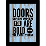 TIED RIBBONS Inspirational Framed Poster for Living Room Bedroom Home Decoration Office Decor Study Room Balcony Wall Decor (13.6 inch X 10.2 inch,Multicolor, Engineered Wood)