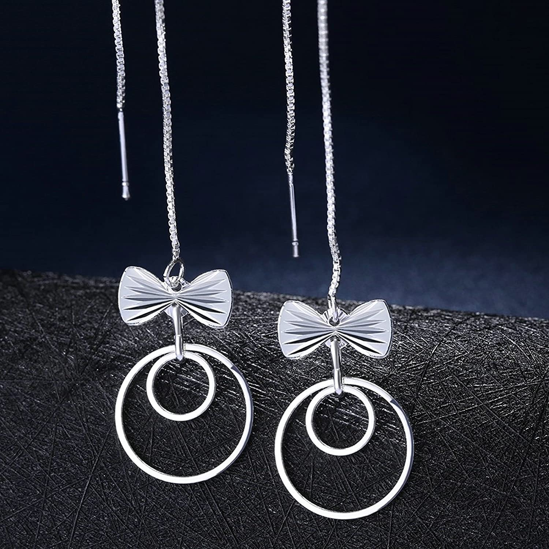 Epinki Stainless Steel Bowknot Cubic Zirconia Stud Earrings for Women
