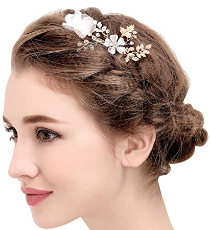 Buy BABEYOND Vintage Flower Wedding Hair Combs Bridal Headpiece Women Hair  Side Combs Bridesmaids Accessories (Hair comb) Online at Low Prices in  India ... 52d2bffeac6