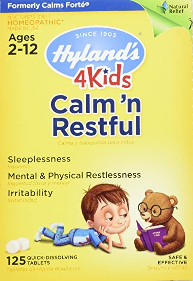 amazoncom hylands 4 kids calm n restful tablets safe and natural relief of sleeplessness and restlessness for children 125 count health personal calm casa kids
