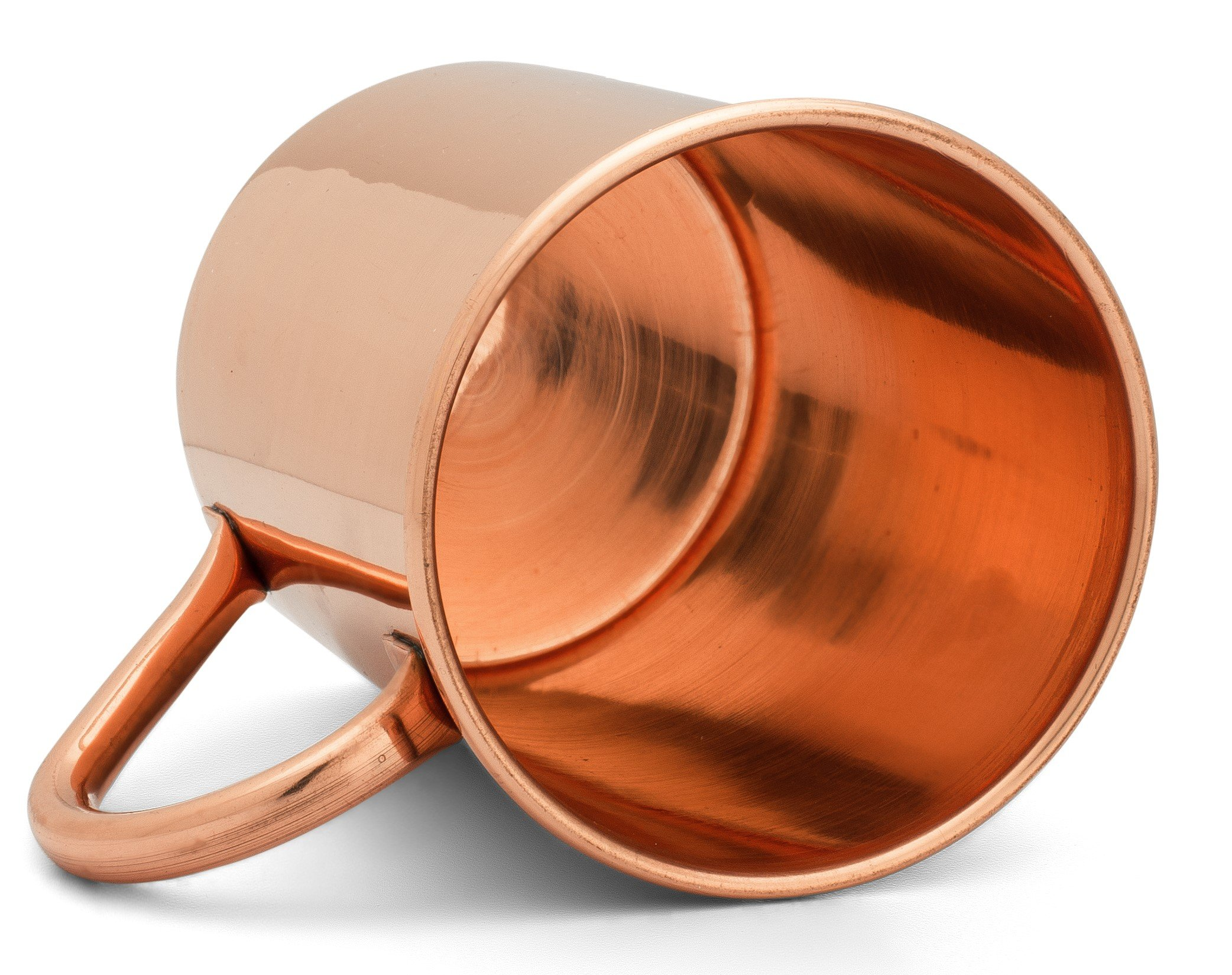 Moscow Mule Copper Mug by Copper Mules – Handcrafted Pure Copper – Smooth Finish – Classic Riveted Handle – Holds 16oz
