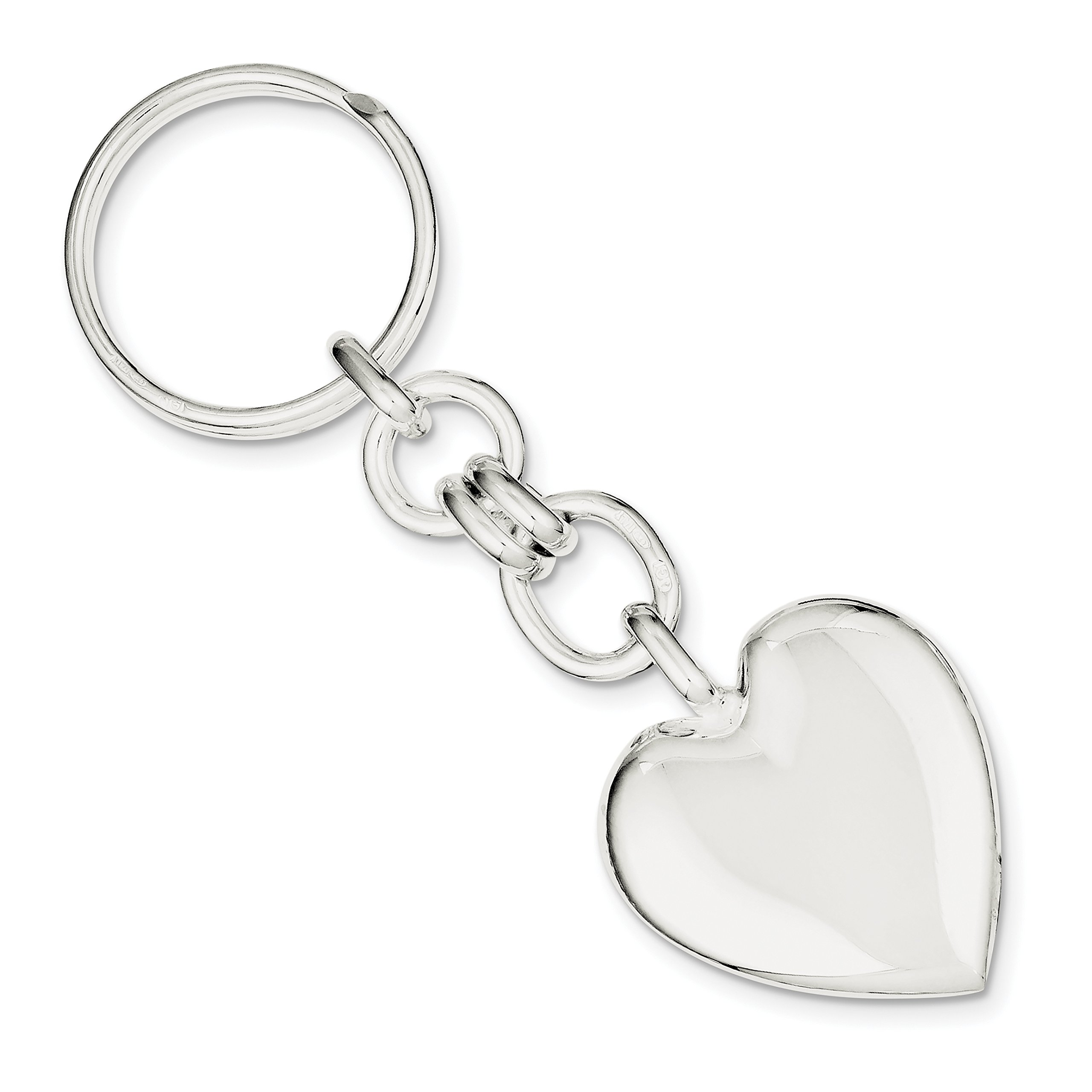 925 Sterling Silver Heart Key Ring by Diamond2Deal