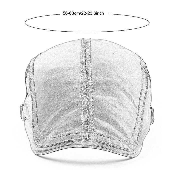 AIEOE Sombrero de Boinas Beret Gorro con Visera Protección del Sol  Transpirable Bailey Cap para Hombre Mujer Verano e5fd63e40ca