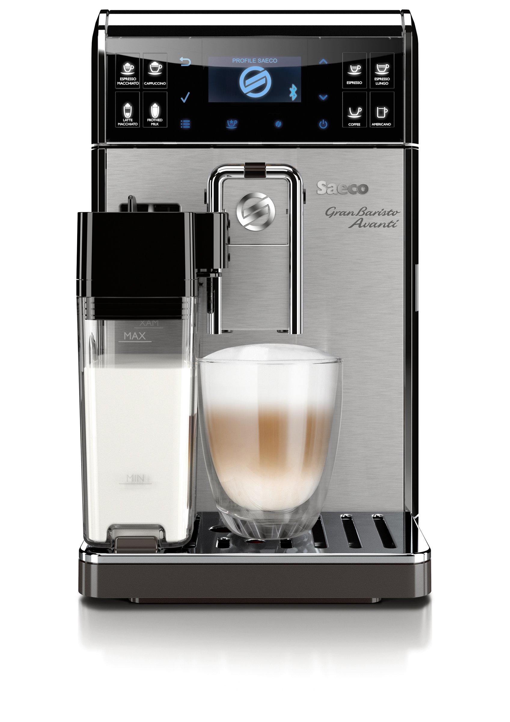 Saeco GranBaristo Avanti Super Automatic, Connected, Espresso Machine, Stainless Steel, HD8967/47 by Saeco