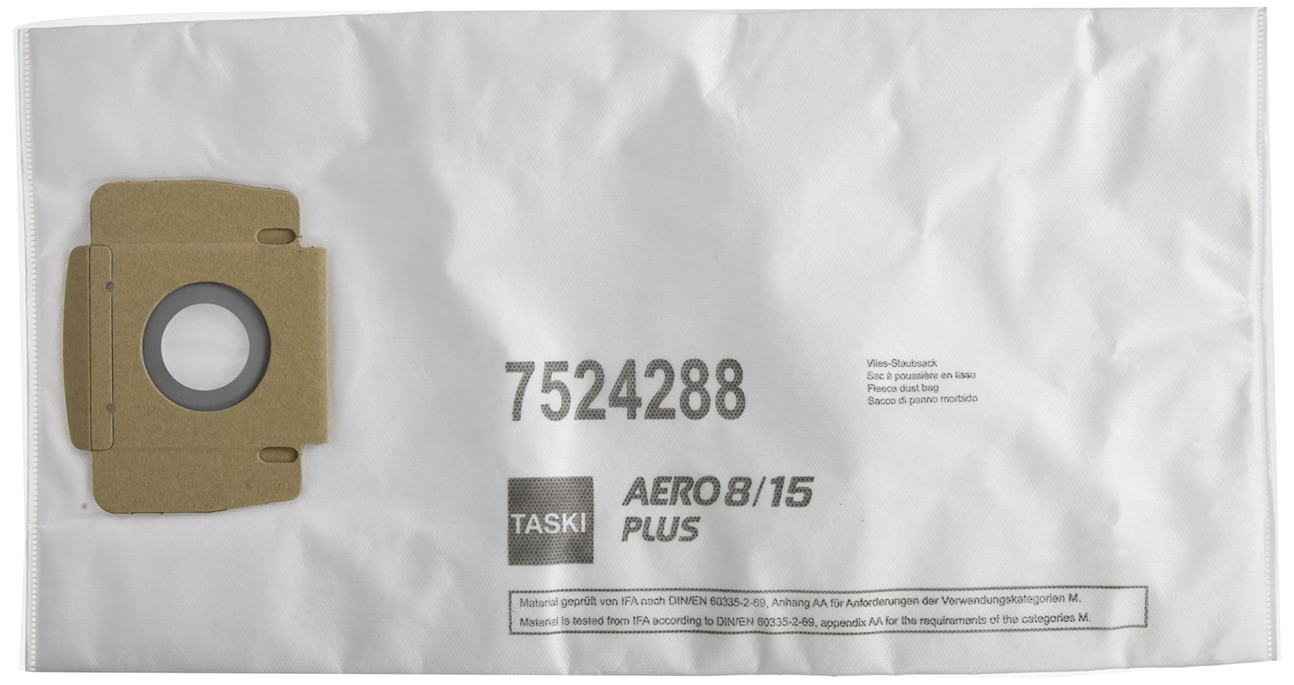 TASKI Aero 8/15 PLUS Disposable Fleece Bags, White by Taski