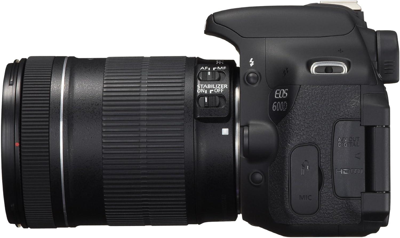 Objectifs 18-55 Mm IS//55-250 Mm IS 18 Mpix Noir Canon EOS 600D Appareil photo num/érique R/éflex Kit Bo/îtier