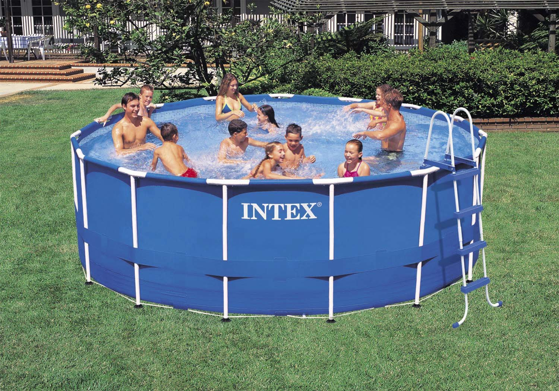 Intex Frame Pool Set Rondo III Kartuschenfilter 3.800 l/h, Leiter ...