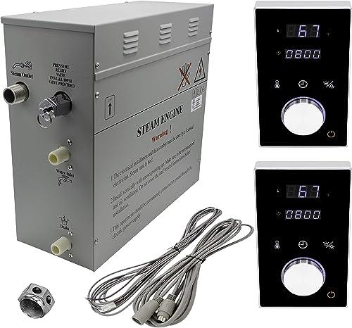 Superior Steam Bath Generator 6kW DeLuxe. Black or White Keypads 6kW, Black Dual Keypad