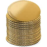 10 inch Gold Cake Boards Rounds, [24 Pack] Cake Base, 10-In Circle Cardboard, Disposable 10 in Round Cake Boards Perfect…