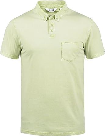 Solid Pat Camiseta Polo De Manga Corta para Hombre con Cuello De ...