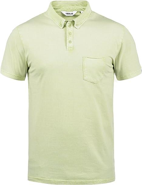 Solid Pat Camiseta Polo De Manga Corta para Hombre con Cuello De Polo De 100% algodón: Amazon.es: Ropa y accesorios