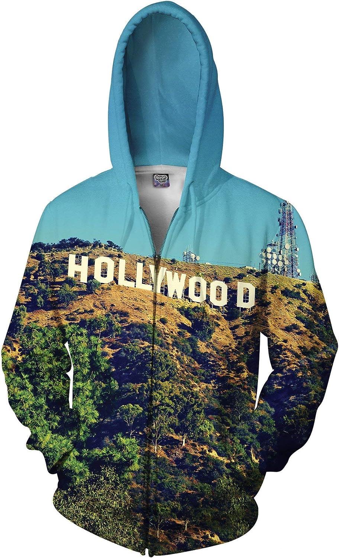 RageOn Classics Hollywood Premium All Over Print Zip-Up Hoodie