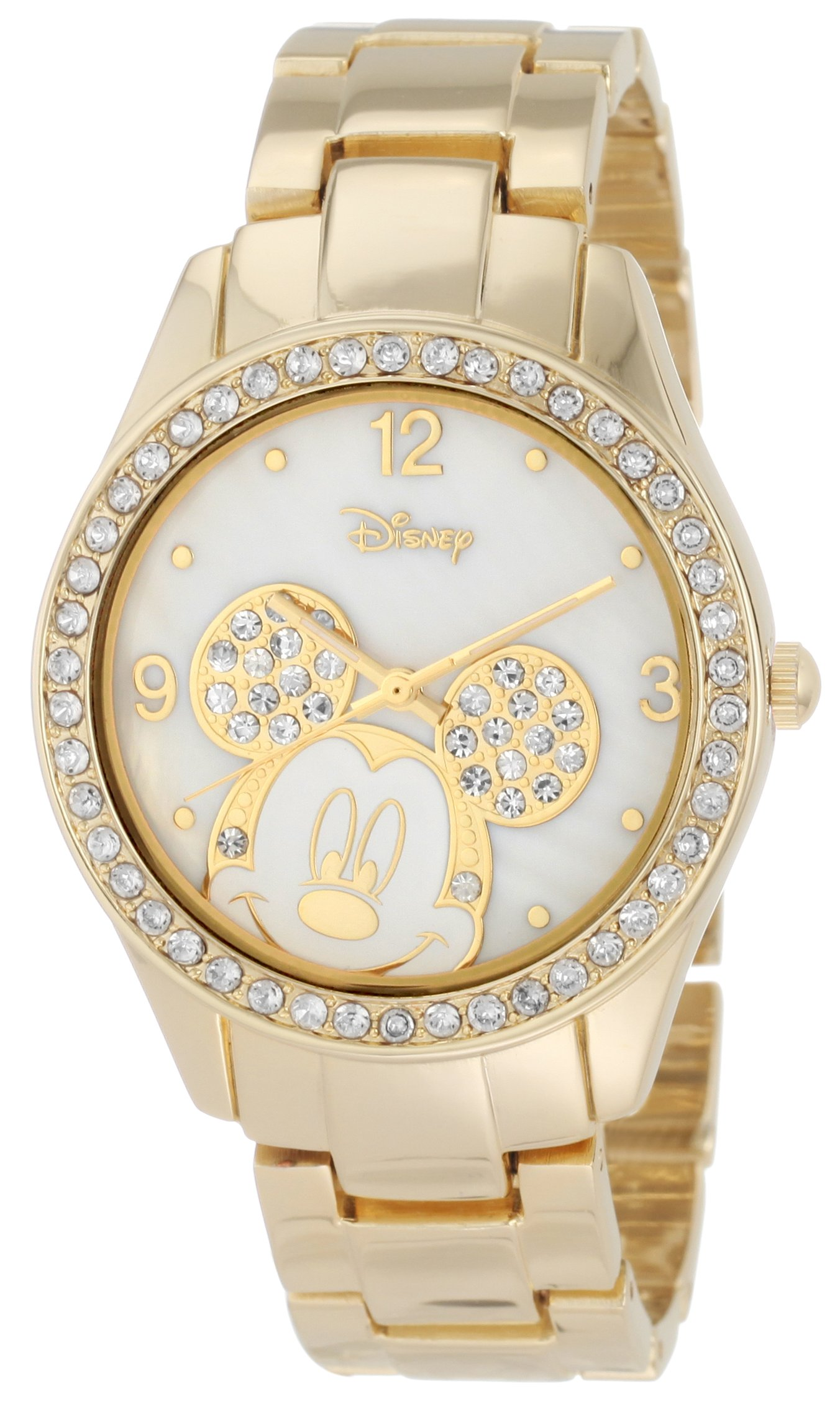Disney Women's Mickey Mouse Crystal-Accented Bracelet ...