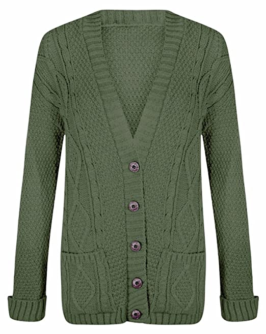 7ad43ff1fbd4 Momo Ayat Fashions Ladies Long Chunky Cable Knitted Button Cardigan UK Size  8-26 (M