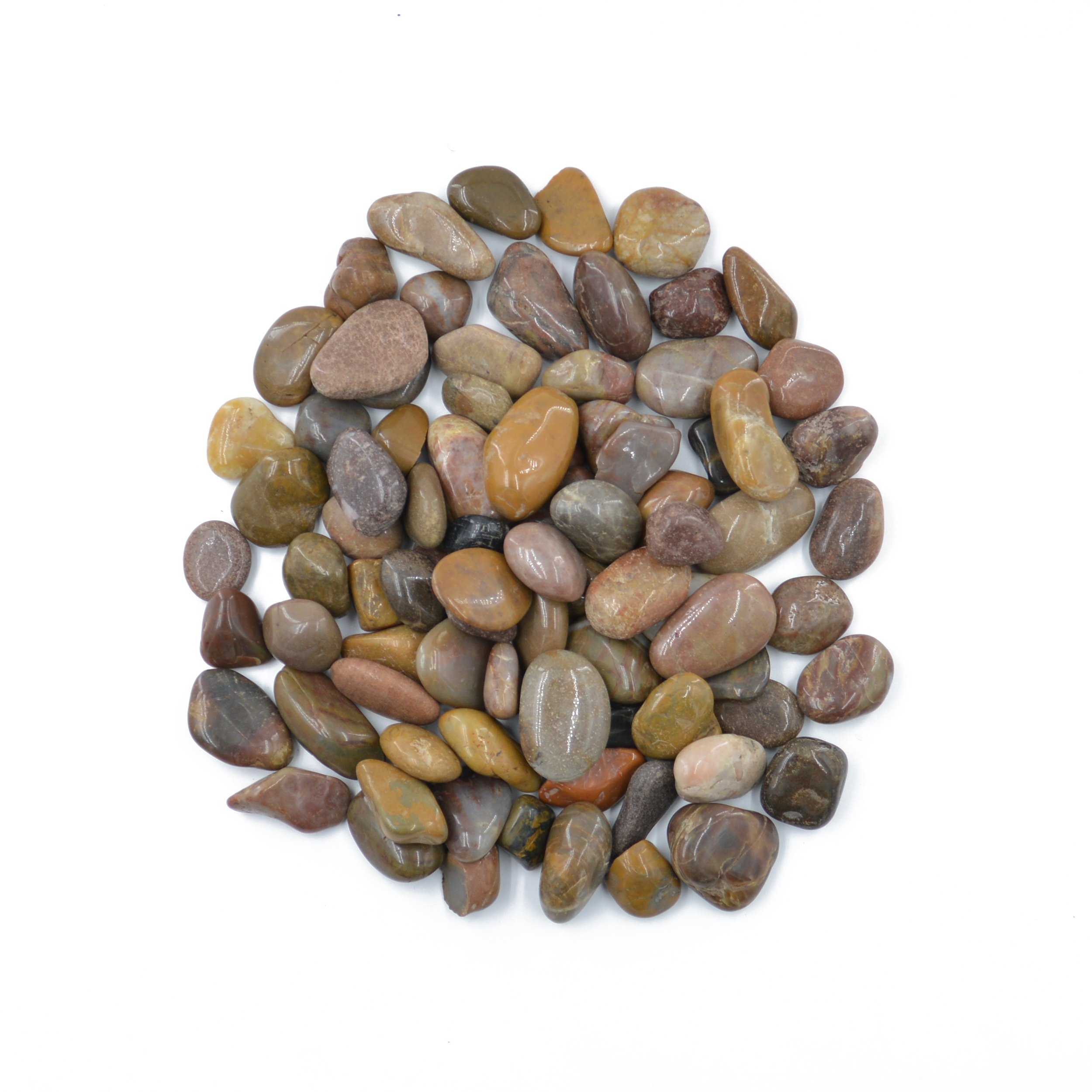 CNZ Polished Pebble Stone Red 5 Pounds 1.0-1.5inch for Plant Aquariums, Landscaping, Home Decor