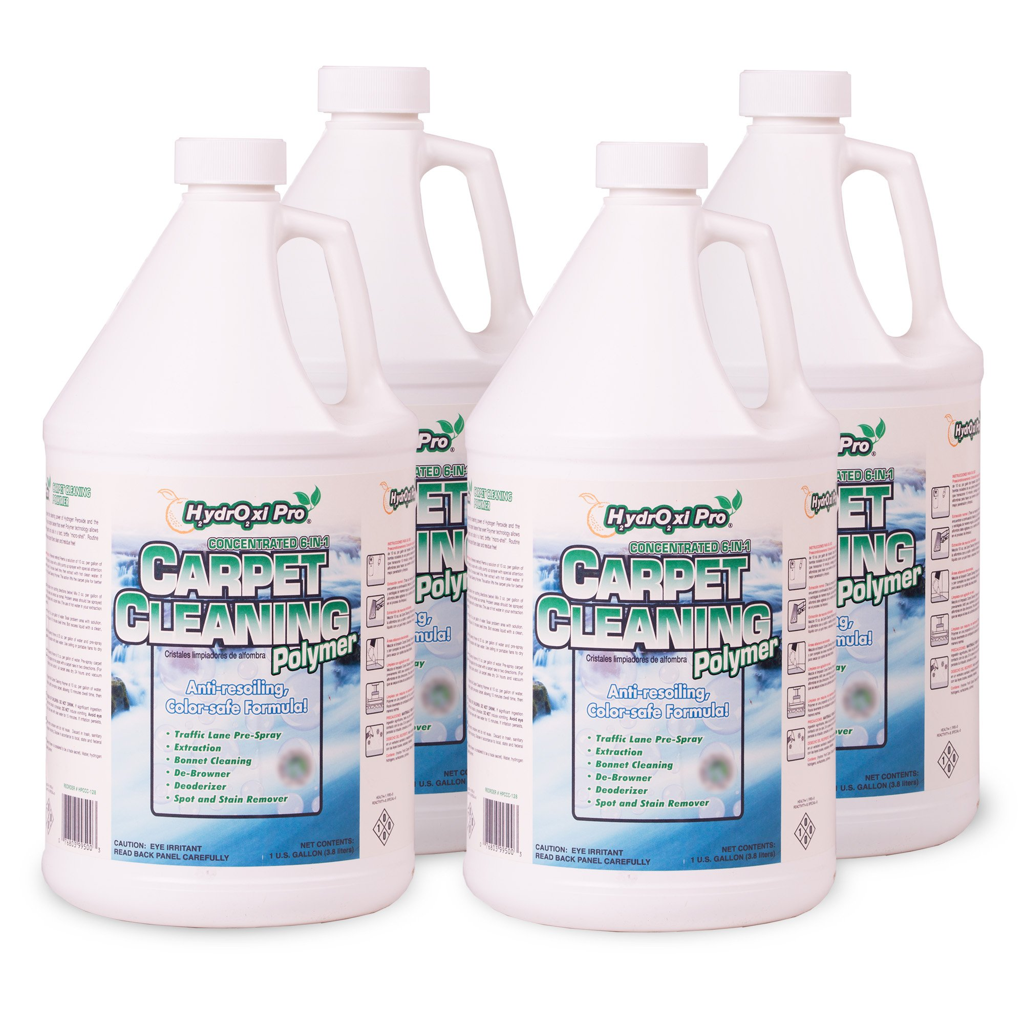 HYDROXI PRO CARPET CLEANING POLMER CASE OF 4 128 OZ BOTTLES